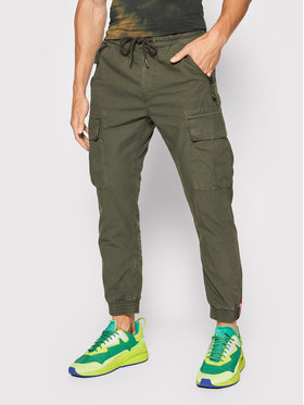 Alpha Industries Alpha Industries Joggery Ripstop 116201 Zielony Tapered Fit