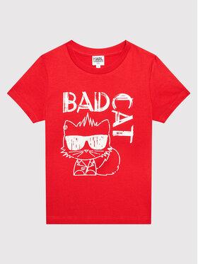 KARL LAGERFELD KARL LAGERFELD T-Shirt Z25303 S Czerwony Regular Fit