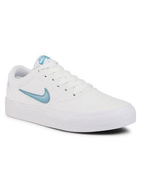 Nike Nike Boty Sb Charge Cnvs (Gs) CQ0260 100 Bílá