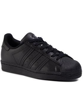 adidas adidas Topánky Superstar J FU7713 Čierna