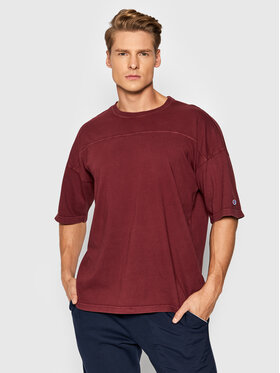 Champion Champion T-Shirt Logo 216492 Bordowy Relaxed Fit