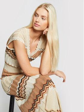 Morgan Morgan Úpletové šaty 211-RMJINI Béžová Regular Fit
