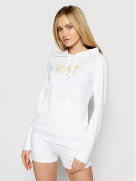 EA7 Emporio Armani EA7 Emporio Armani Majica dugih rukava 8NTM40 TJ31Z 0101 Bijela Regular Fit