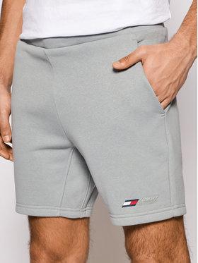Tommy Hilfiger Tommy Hilfiger Sportovní kraťasy Logo Fleece MW0MW17234 Šedá Regular Fit
