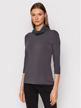 Marella Marella Bluză cu gât Retta 39460319 Gri Regular Fit