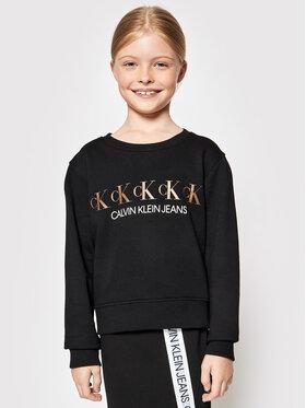 Calvin Klein Jeans Calvin Klein Jeans Džemperis Repeat Foil IG0IG00989 Juoda Regular Fit