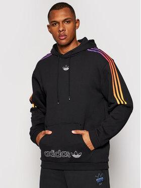 adidas adidas Majica dugih rukava Sprt 3-Stripes GN2424 Crna Regular Fit