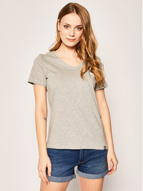 Superdry Superdry T-Shirt Essential Vee W6010136A Szary Regular Fit