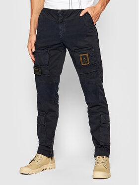 Aeronautica Militare Aeronautica Militare Текстилни панталони 212PA939CT83 Тъмносин Slim Fit