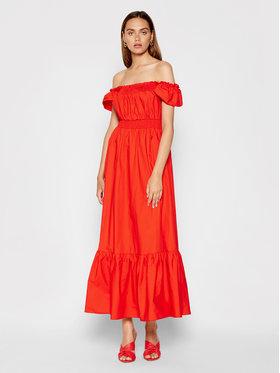 Rinascimento Rinascimento Sukienka letnia CFC0103666003 Czerwony Regular Fit