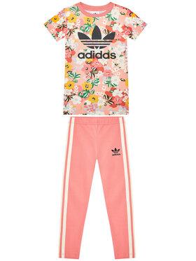 adidas adidas Komplektas: suknelė ir tamprės Her Studio London Floral Tee GN4214 Rožinė Regular Fit