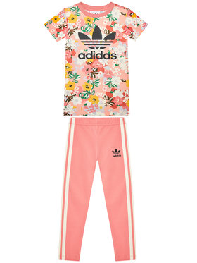 adidas adidas Set rochie și leggings Her Studio London Floral Tee GN4214 Roz Regular Fit