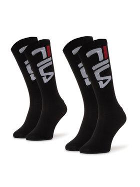 Fila Fila Комплект 2 чифта дълги чорапи мъжки Calza F9632 Черен