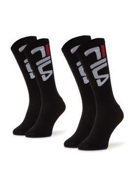 Fila Fila Súprava 2 párov vysokých ponožiek unisex Calza F9632 Čierna