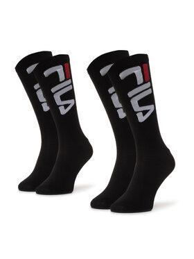 Fila Fila Unisex ilgų kojinių komplektas (2 poros) Calza F9632 Juoda