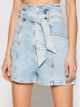 Tommy Jeans Tommy Jeans Džinsiniai šortai New Paperbag Mom DW0DW10092 Mėlyna Relaxed Fit