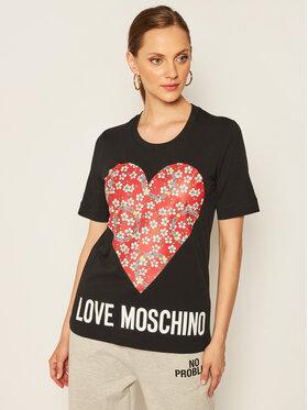 LOVE MOSCHINO LOVE MOSCHINO Тишърт W4F152LM 3876 Черен Regular Fit