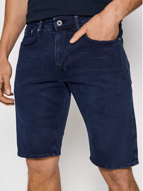 Pepe Jeans Pepe Jeans Kratke traperice Stanley PM800792 Tamnoplava Regular Fit