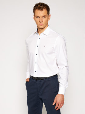 Tommy Hilfiger Tailored Tommy Hilfiger Tailored Košile Twill Classic TT0TT08269 Bílá Regular Fit
