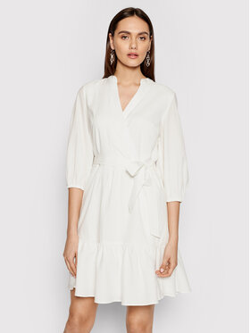 DKNY DKNY Ежедневна рокля DD1BD345 Бял Regular Fit