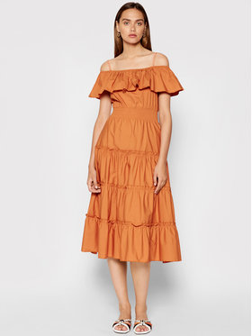 Rinascimento Rinascimento Sukienka letnia CFC0103583003 Pomarańczowy Regular Fit