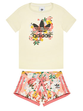 adidas adidas Completo t-shirt e pantaloncini sportvi HER Studio London Floral GN4212 Giallo Standard Fit