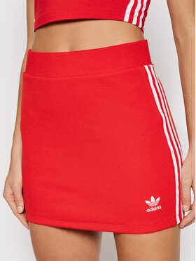 adidas adidas Bleistiftrock adicolor Classics H38760 Rot Fitted Fit