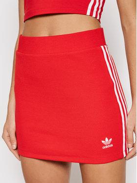 adidas adidas Spódnica ołówkowa adicolor Classics H38760 Czerwony Fitted Fit