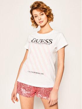 Guess Guess T-Shirt Creamy Tee W0GI57 JA900 Bílá Regular Fit