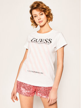 Guess Guess Tricou Creamy Tee W0GI57 JA900 Alb Regular Fit