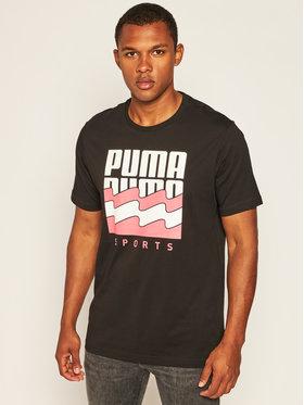 Puma Puma T-Shirt Summer Graphic Tee 581553 Černá Regular Fit
