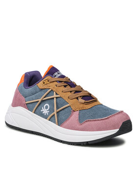United Colors Of Benetton United Colors Of Benetton Sneakersy Ascent Corduroy BTW127306 Niebieski