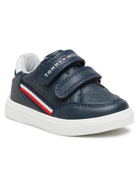 Tommy Hilfiger Tommy Hilfiger Sneakersy Low Cut Velcoro Sneaker T1B4-31073-0621X007 M Granatowy