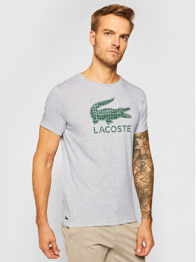 Lacoste Lacoste T-Shirt TH2090 Szary Regular Fit