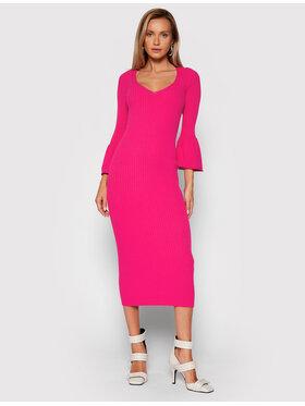 TWINSET TWINSET Úpletové šaty 212TP3115 Růžová Slim Fit
