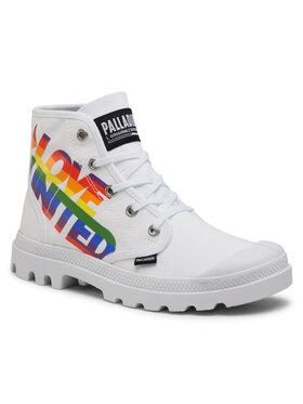 Palladium Palladium Ορειβατικά παπούτσια Pampa Hi Pride 77081-100-M Λευκό