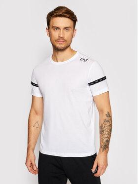 EA7 Emporio Armani EA7 Emporio Armani T-Shirt 6KPT20 PJ02Z 1100 Biały Regular Fit
