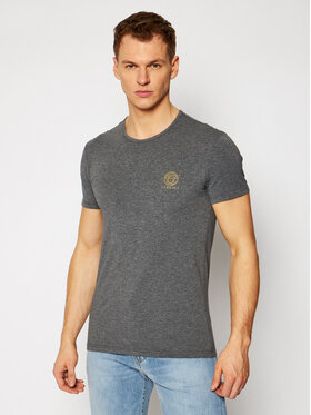 Versace Versace T-shirt Medusa AUU01005 Gris Regular Fit