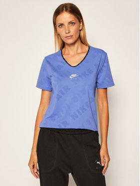 Nike Nike Koszulka techniczna Air CJ2064 Niebieski Standard Fit