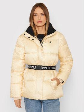 Calvin Klein Jeans Calvin Klein Jeans Пухено яке J20J216859 Бежов Regular Fit