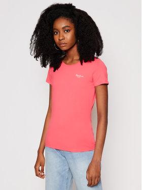Pepe Jeans Pepe Jeans T-Shirt Bellrose PL504812 Růžová Slim Fit