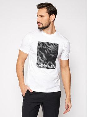 Calvin Klein Calvin Klein Póló Graphic Box Print K10K106714 Fehér Regular Fit