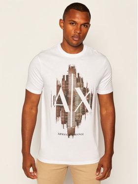 Armani Exchange Armani Exchange T-Shirt 6HZTFG ZJH4Z 1100 Bílá Regular Fit