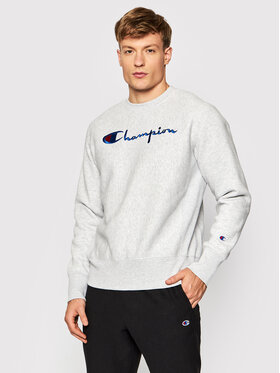 Champion Champion Bluză Embroidered Script Logo Reverse Weave 216539 Gri Regular Fit
