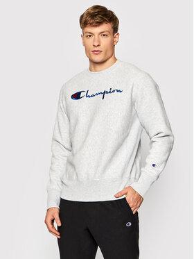 Champion Champion Суитшърт Embroidered Script Logo Reverse Weave 216539 Сив Regular Fit