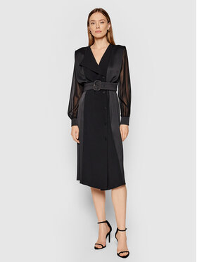 Marella Marella Koktejlové šaty Fabbro 32260413 Černá Regular Fit