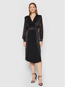Marella Marella Koktejlové šaty Fabbro 32260413 Čierna Regular Fit