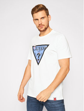 Guess Guess Тишърт Monster M0YI51 I3Z00 Бял Regular Fit
