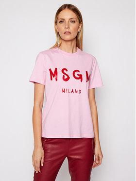MSGM MSGM T-shirt 3041MDM60 217298 Rose Regular Fit