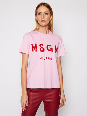 MSGM MSGM T-shirt 3041MDM60 217298 Ružičasta Regular Fit